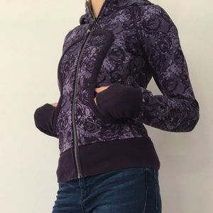 Purple Lulu Lemon hooded sweatshirt